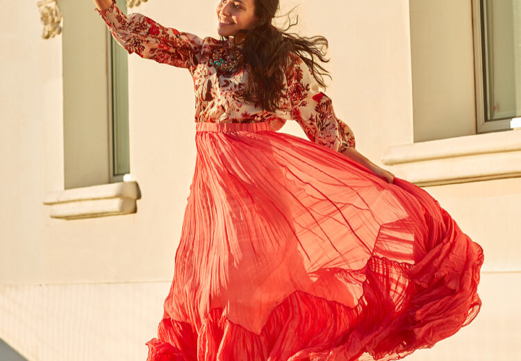 model red dress